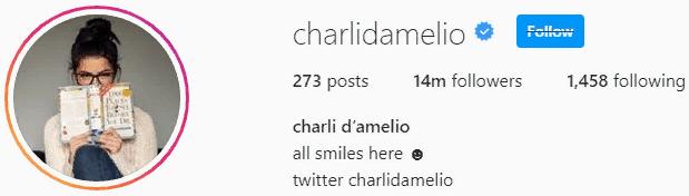 Тик Ток Чарли Дамелио в инстаграмме